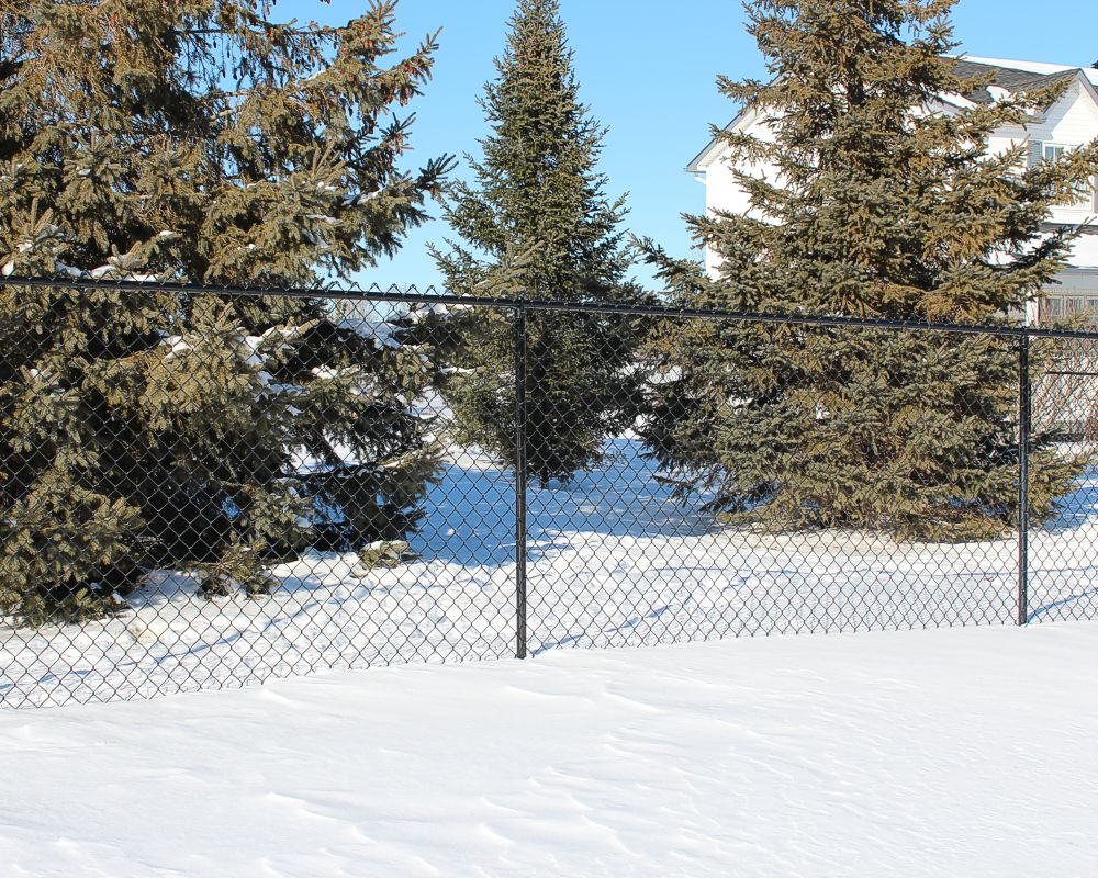 Black Chain Link Fence - 13